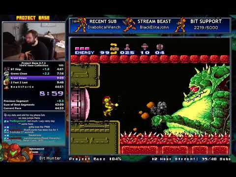 Super Metroid: Project Base 104% in 44:37 (0:32) [WR]