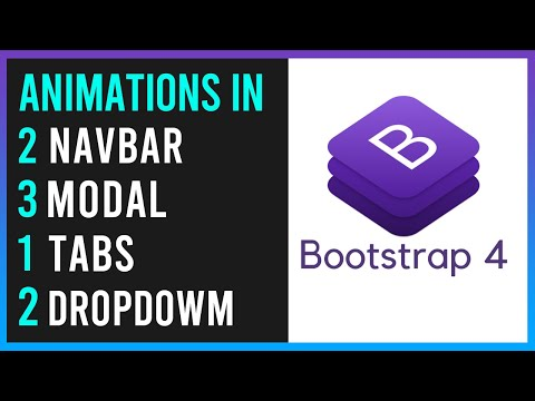 Bootstrap 4 - Animations In Navbar - Dropdown-menu - Modal & Tabs