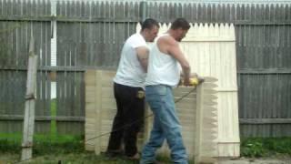 Redneck Fence Building 101