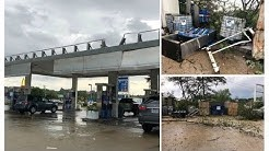 Severe weather damages gas station on Midlothian Turnpike 9/17/18