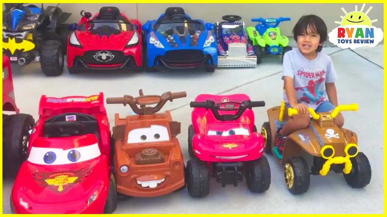 Ryan's Power Wheels Collections Ride On Car! Toy Review