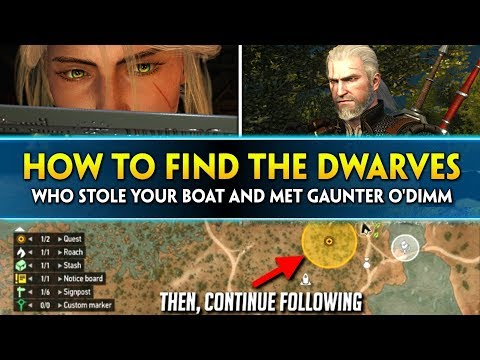 Witcher 3: HOW TO FIND the Dwarves who Stole Your Boat and Met Gaunter O'Dimm thumbnail