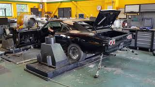 Dodge Charger Supercharged Chrysler Mopar V8 Big Block On Rolling Road Dyno For Mapping 800 BHP