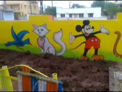 play school wall art in coimbatore - YouTube