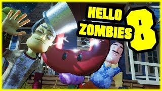 HELLO ZOMBIES 8 - Hello Neighbor Plants vs Zombies Mod