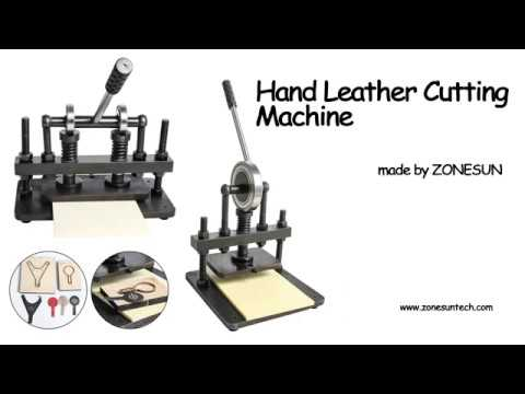 How to use the Hand leather cutting machine,photo paper,PVC/EVA sheet mold cutter