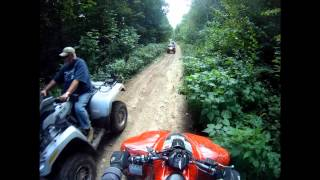 Kfx 700 With Lte Dual Exhaust - Jericho Atv Park - Trail To Bridge