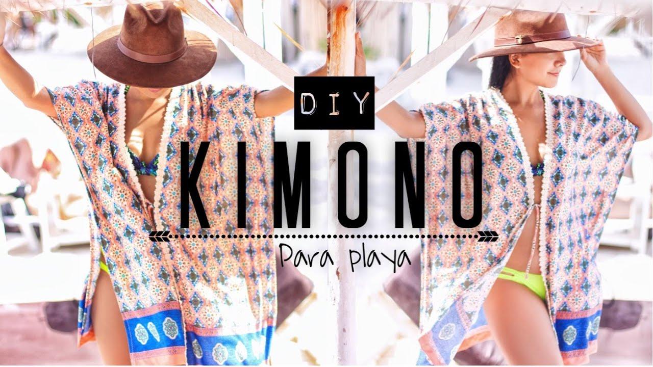 89063cdad Como Hacer KIMONO Para Playa! | DIY - YouTube
