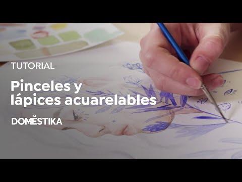Tutorial Acuarela: Cómo Pintar Con Pinceles Y Lápices Acuarelables - Naranjalidad - Domestika
