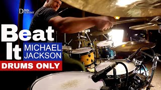 Michael Jackson Beat It Drum Cover (Drums Only)⚫⚫⚫