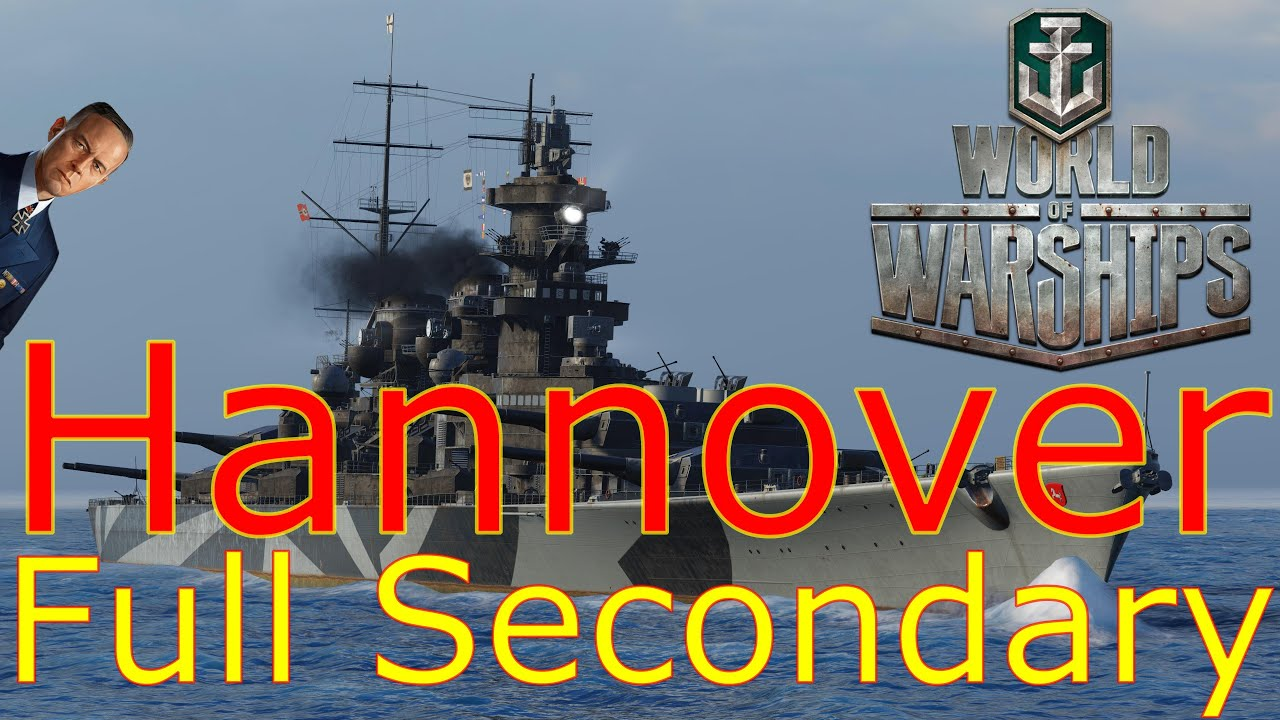 World of Warships- Hannover Full Secondary Build With Lutjens