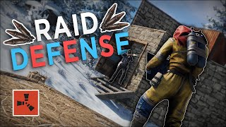 DEFENDING from a RAIDER then STEALING ALL of his EXPLOSIVES! - Rust Solo Survival #3