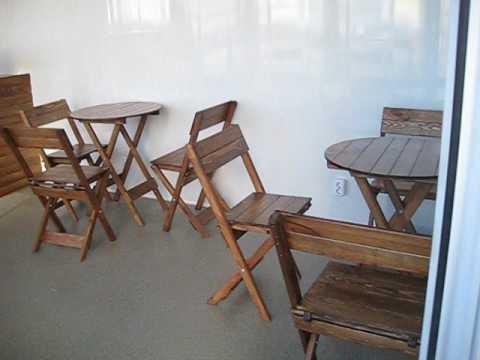 Столы и стулья раскладные. Барная стойка. Барные стулья.