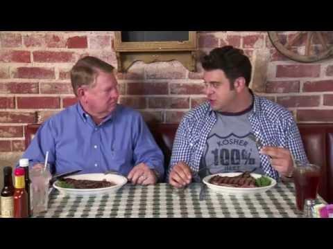 Man Vs. Food - Cattlemens Steakhouse in Oklahoma City