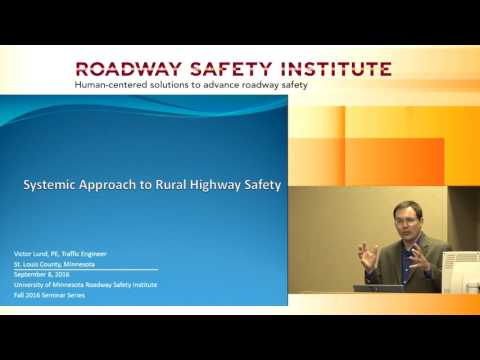 2016 Fall Seminar #1: Systemic Approaches to Rural Highway Safety