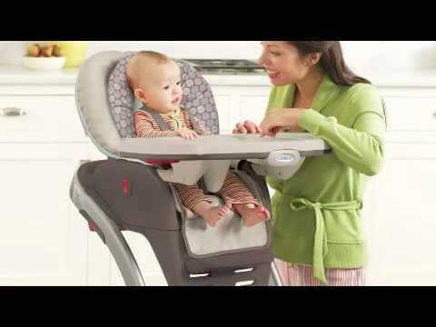 Graco High Chair Blossom Hanging Cane 4 In 1 Seating System Youtube
