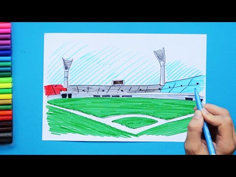 How to draw a Baseball Ballpark