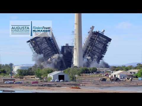 Northern Power Station Boiler Demolition 3
