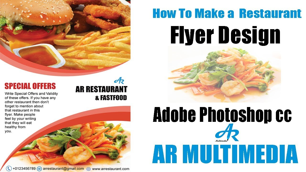 How to Create a Flyer Design in Photoshop cc|Restaurant flyer design ...