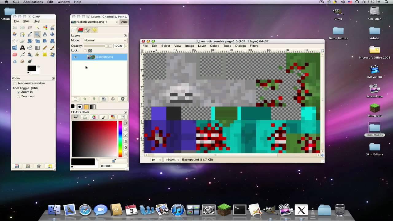 Further Editing Minecraft Skins Mac/PC [HD]