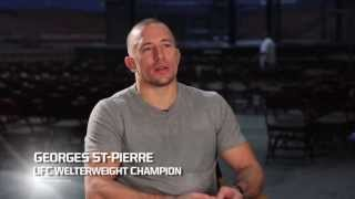 Georges St-Pierre on Set of FOX Sports 1 Commercial