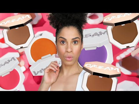 FENTY BEAUTY- Cheeks Out Freestyle Cream Bronzer + Blush (yeah...all 10) | kinkysweat from YouTube · Duration:  31 minutes 56 seconds