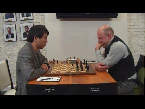 Wesley So Demolishes Shabalov - Round1 US Chess Championship 29 March 2017