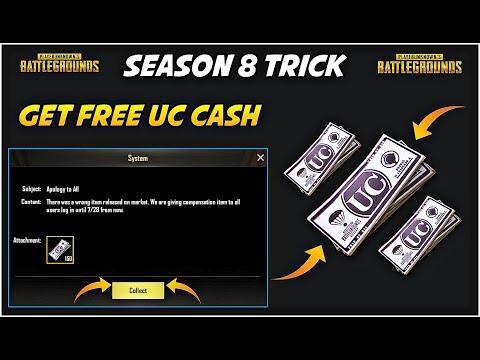 Get Free Uc Cash In PUBG Mobile | Season 8 Royal Pass Free | Pubg Free Uc Tricks