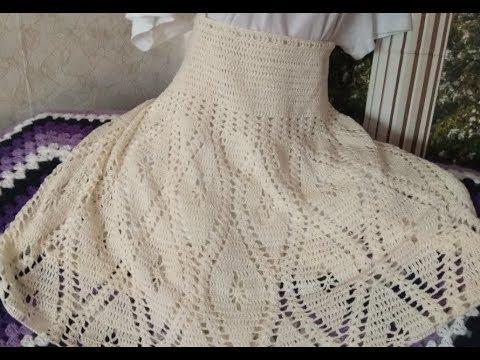 Летняя кружевная юбка крючком