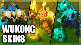 All Wukong Skins Spotlight (League of Legends)