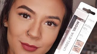NEW L'OREAL UNBELIEVA'BROW REVIEW! WONDERBROW DUPE?!