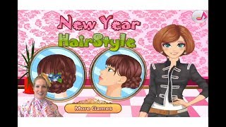 New Year Hair Salon Hairstyle Video Game App Play & Review