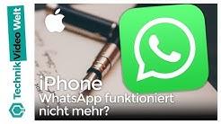 iPhone WhatsApp funktioniert nicht mehr?