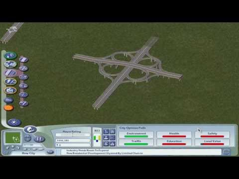 SimCity 4 - Two ways to create an Elevated Highway Cloverleaf