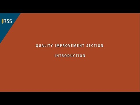 Quality Improvement Section - Introduction