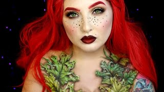 Wilted Poison Ivy Halloween Makeup Tutorial | Jordan Hanz