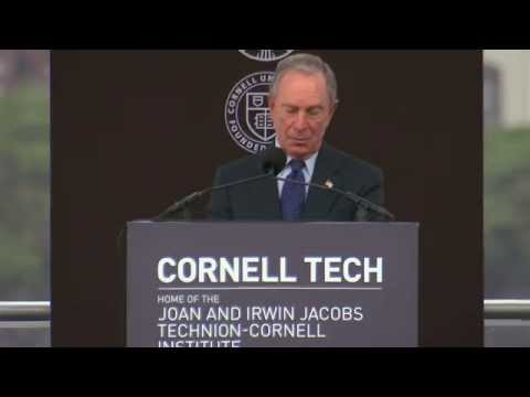 $100M gift names Bloomberg Center at Cornell Tech groundbreaking celebration