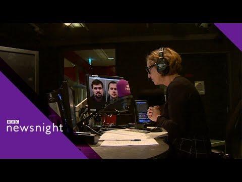 RT editor hangs up on Kirsty Wark - BBC Newsnight