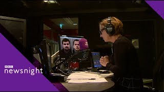 RT editor hangs up on Kirsty Wark - BBC Newsnight