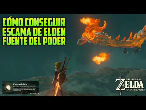 CÓMO CONSEGUIR FÁCIL ESCAMA DE DRAGÓN ELDEN FUENTE DEL PODER | LEGEND OF ZELDA: BREATH OF THE WILD