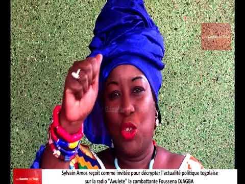 Sylvain Amos s'entretient avec la combattante Foussena DJAGBA au sujet du dialogue engagé