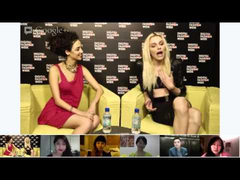 Google+ Hangout with Supermodel Andrej Pejic - #DigitalFashionWeek Singapore 2012