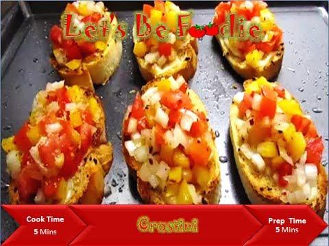 Crostini recipe italian evening snacks and starter recipe for Italian snacks