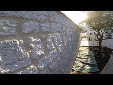 parement de pierre sur mur parpaing vid o n 23 youtube