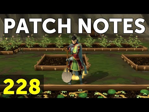 RuneScape Patch Notes #228  16th July 2018