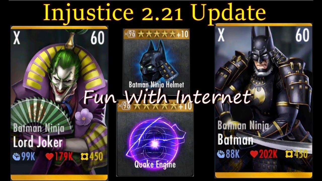 Injustice 2 21 Update Batman Ninja Batman And Batman Ninja Lord Joker Youtube