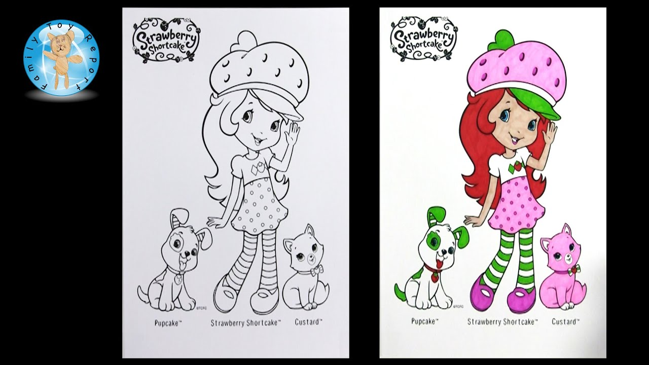Strawberry Shortcake Coloring Pages - Custard Cat - Pupcake Dog ...