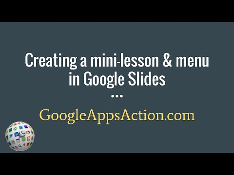 Creating interactive mini-lessons using Google Slides