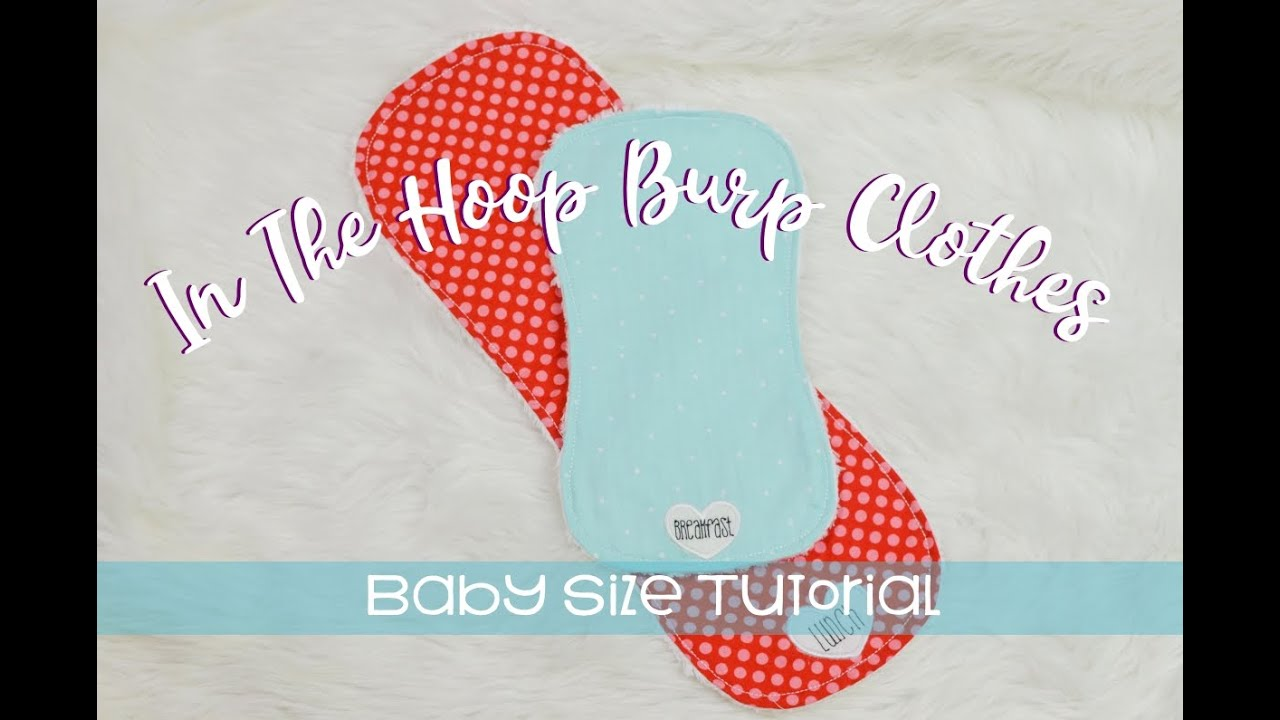Baby Burp cloth baby showers made in the hoop