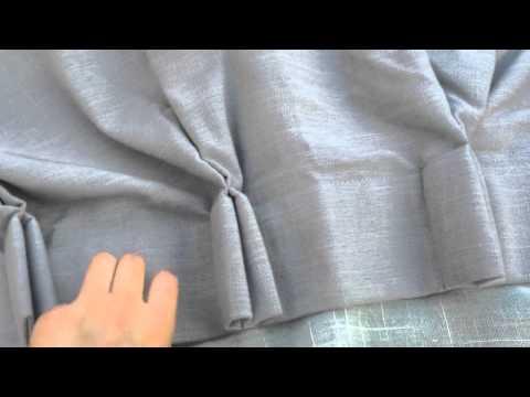custom curtains, Handmade linen cotton blend fabric
